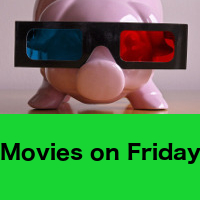 Piglet with 3D glasses